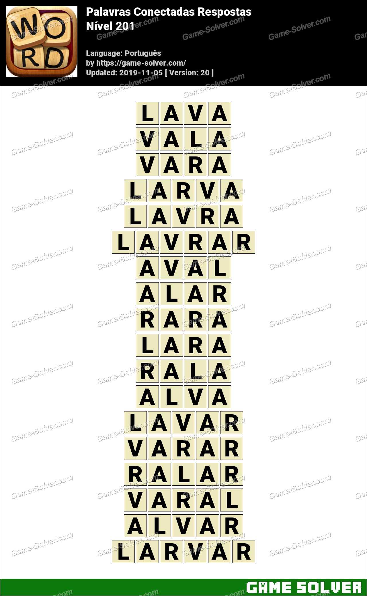 Palavras Conectadas Nivel 201 Respostas