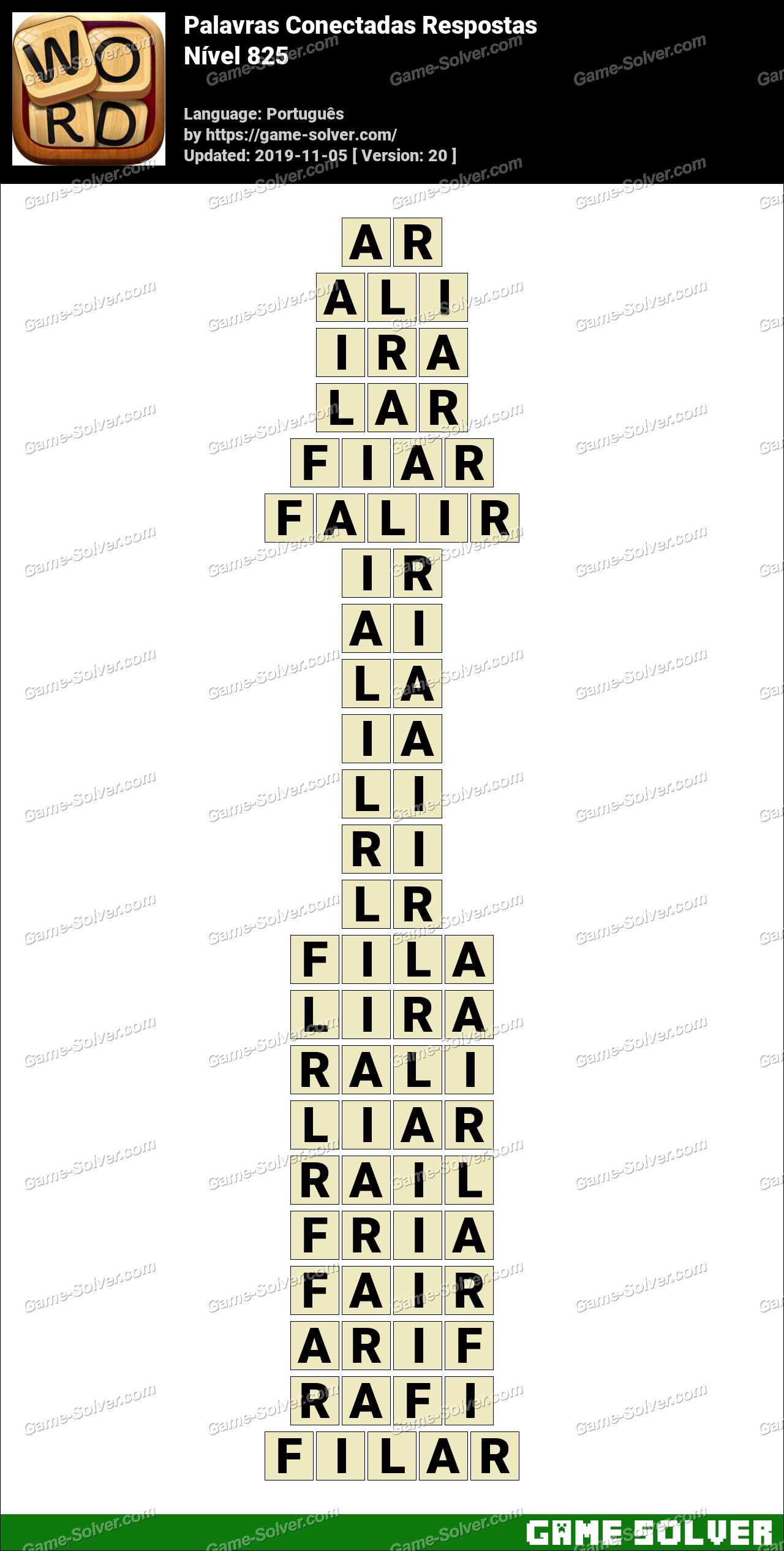 Palavras Conectadas Nivel 825 Respostas