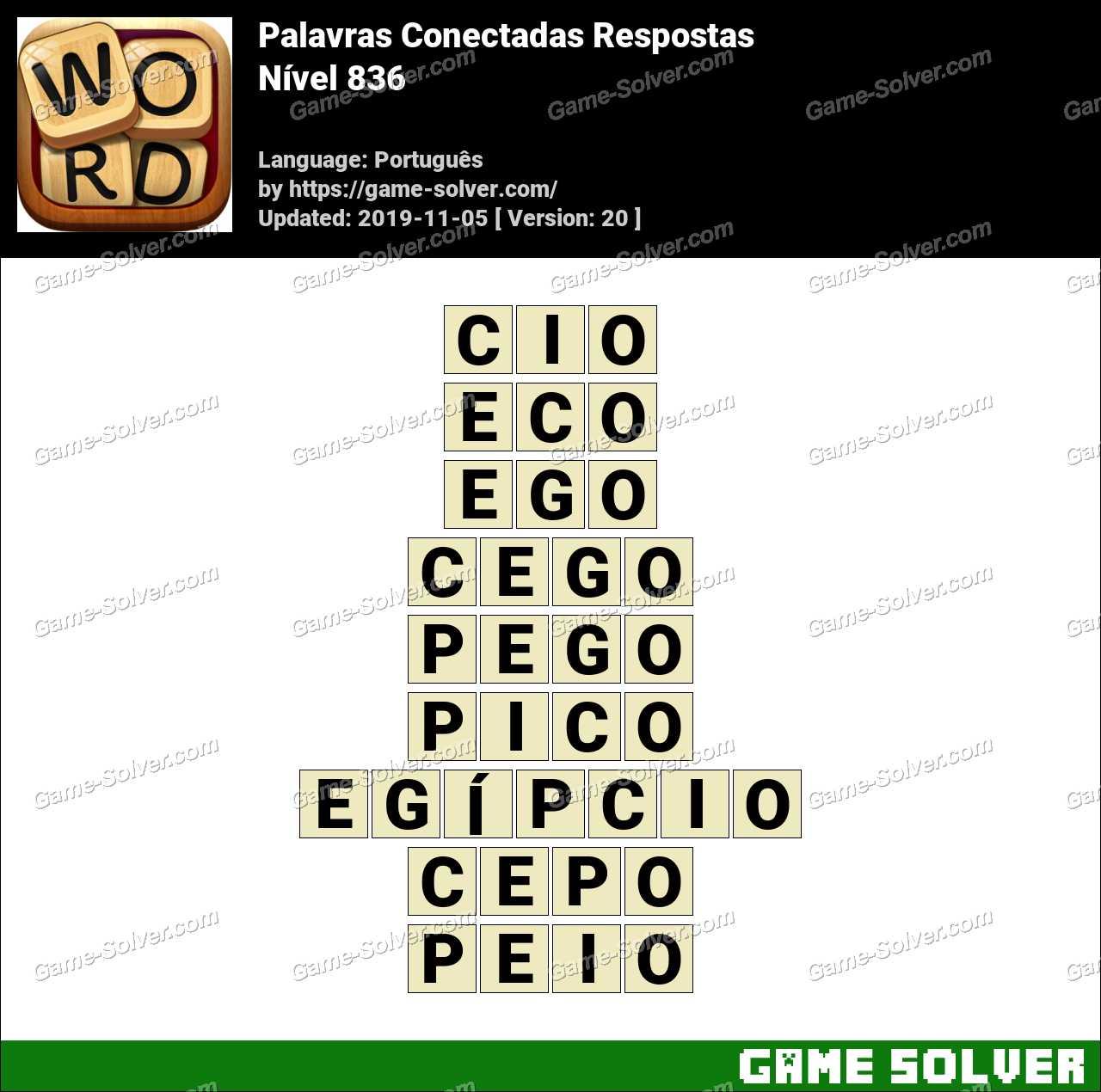 Palavras Conectadas Nivel 836 Respostas