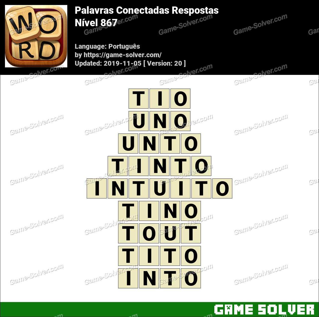Palavras Conectadas Nivel 867 Respostas