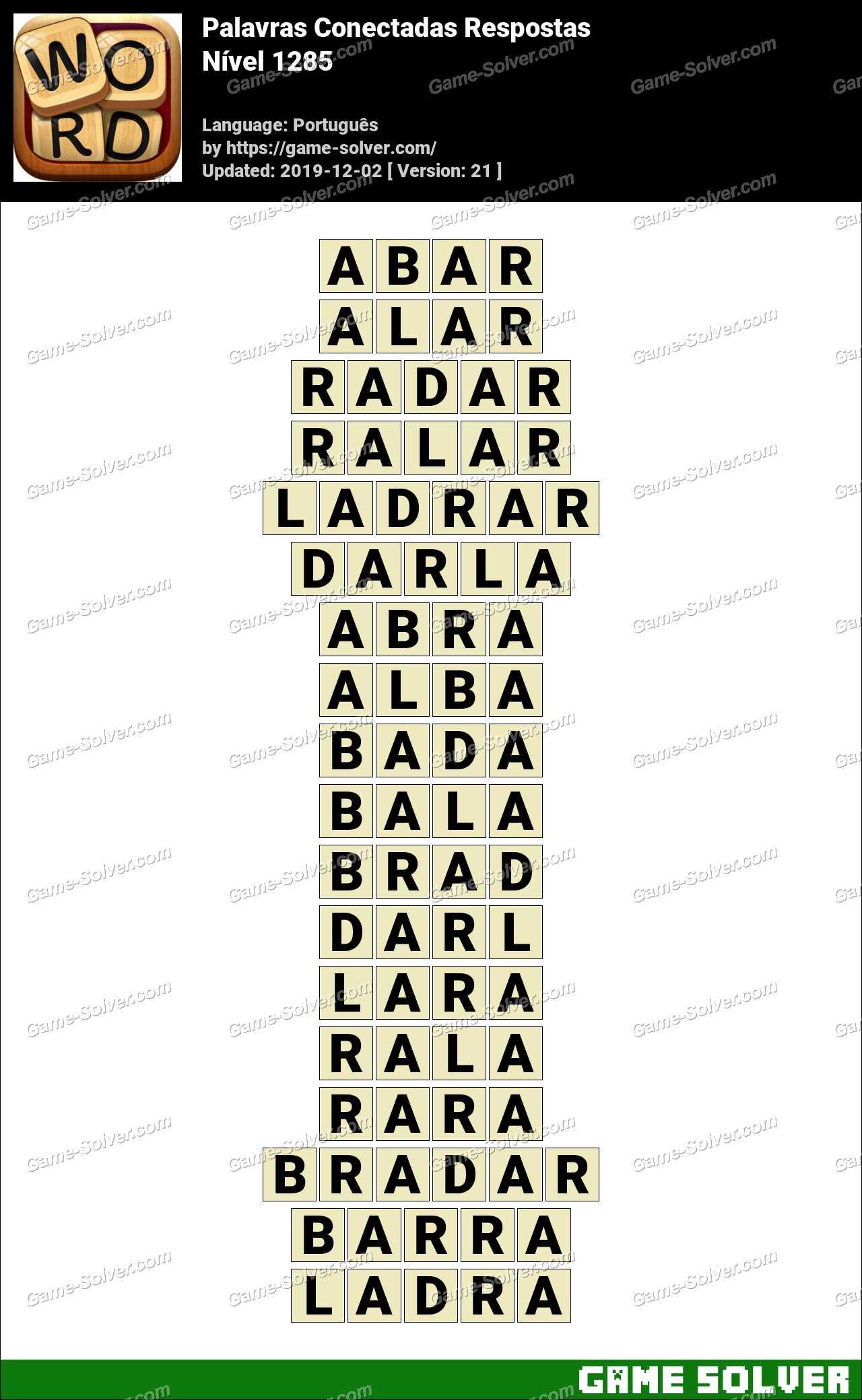 Palavras Conectadas Nivel 1285 Respostas