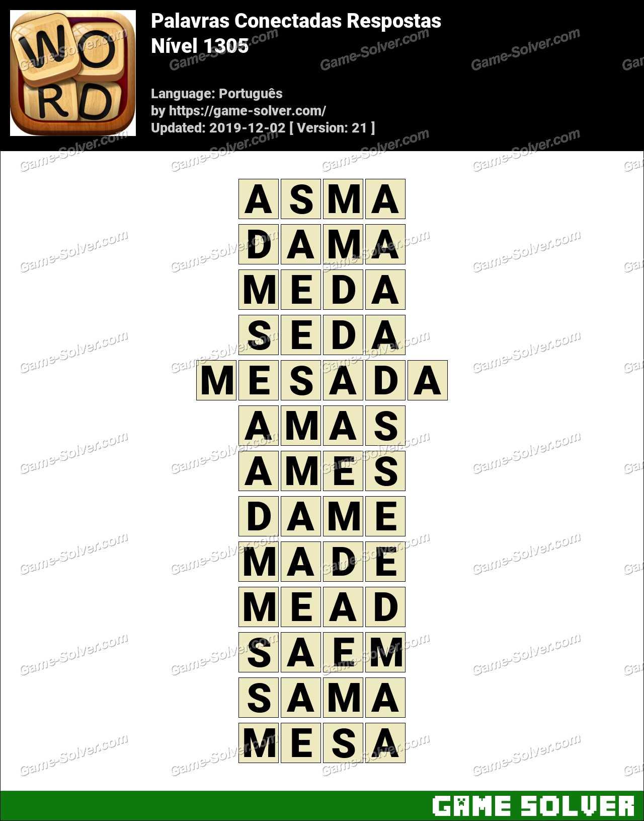 Palavras Conectadas Nivel 1305 Respostas