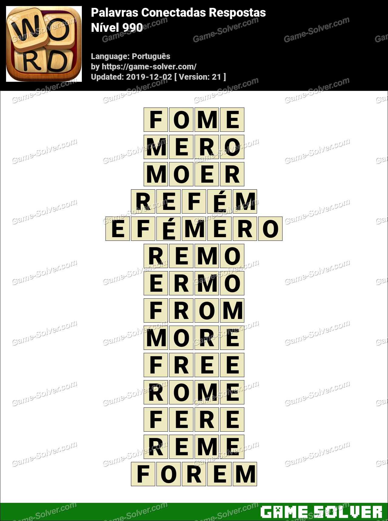 Palavras Conectadas Nivel 990 Respostas