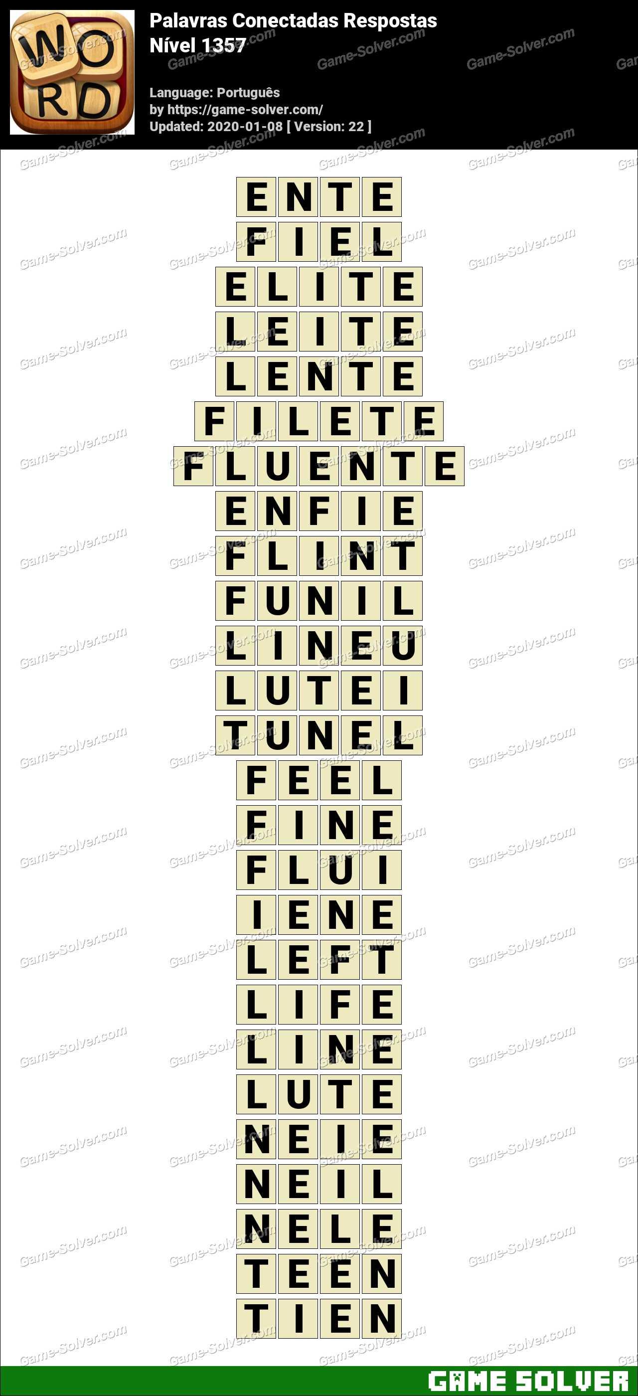 Palavras Conectadas Nivel 1357 Respostas