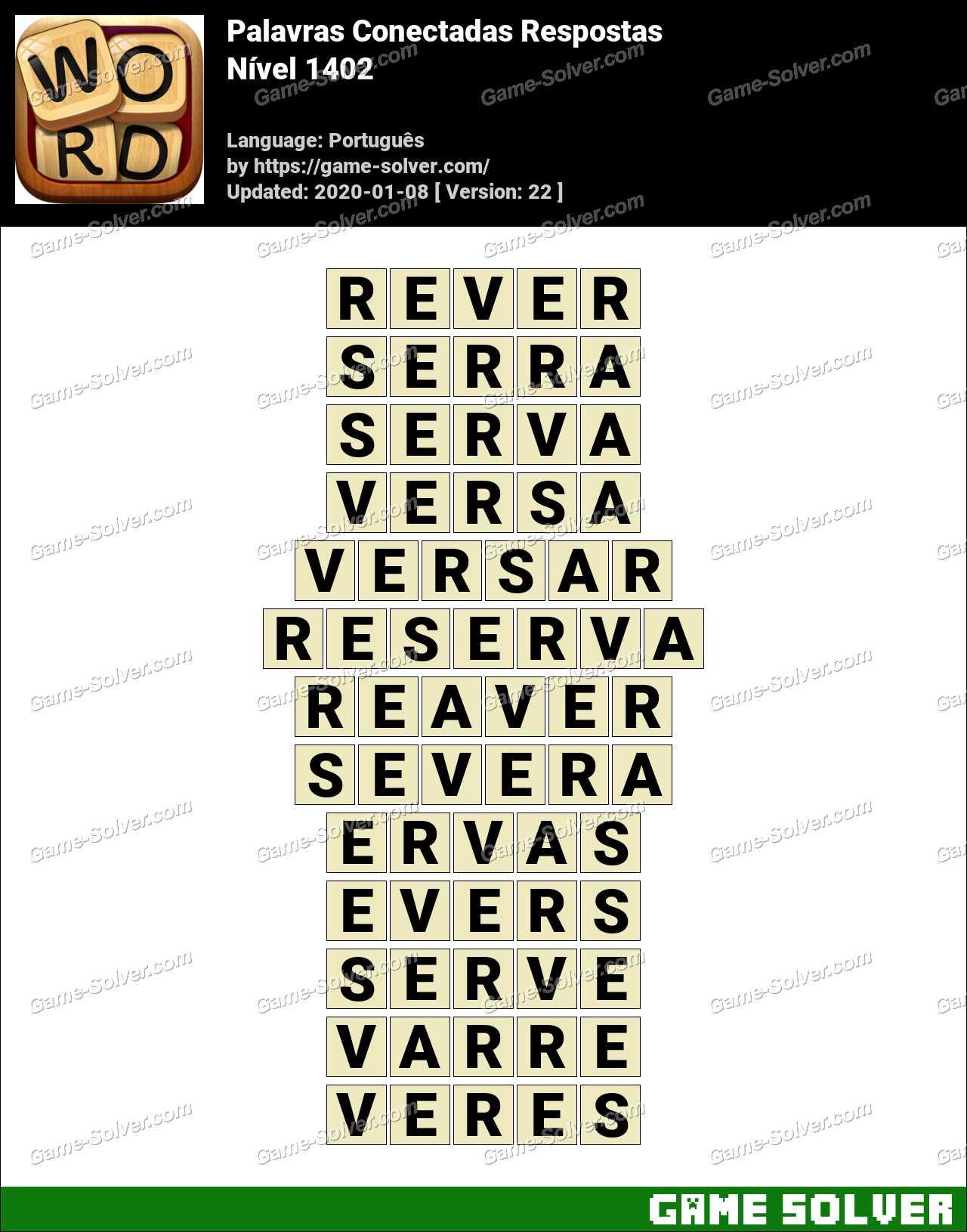 Palavras Conectadas Nivel 1402 Respostas