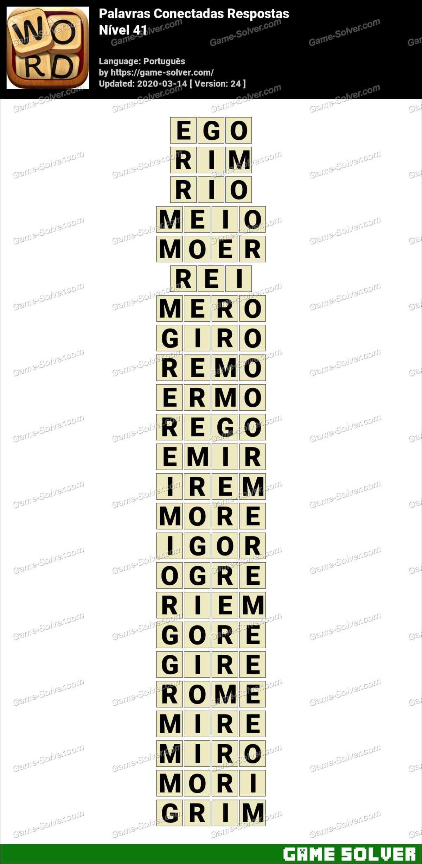 Palavras Conectadas Nivel 41 Respostas