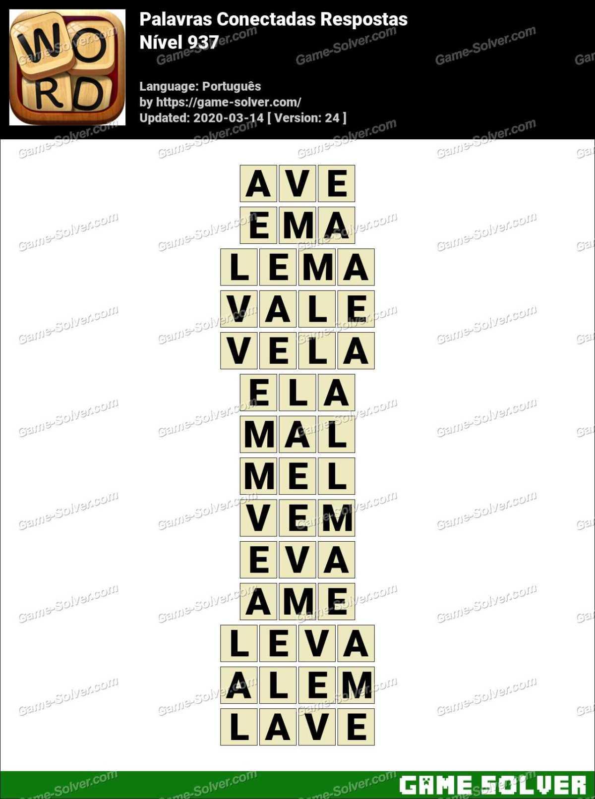 Palavras Conectadas Nivel 937 Respostas