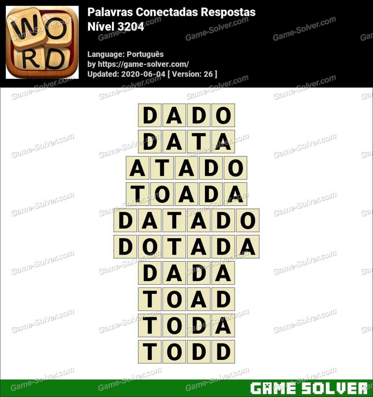 Palavras Conectadas Nivel 3204 Respostas
