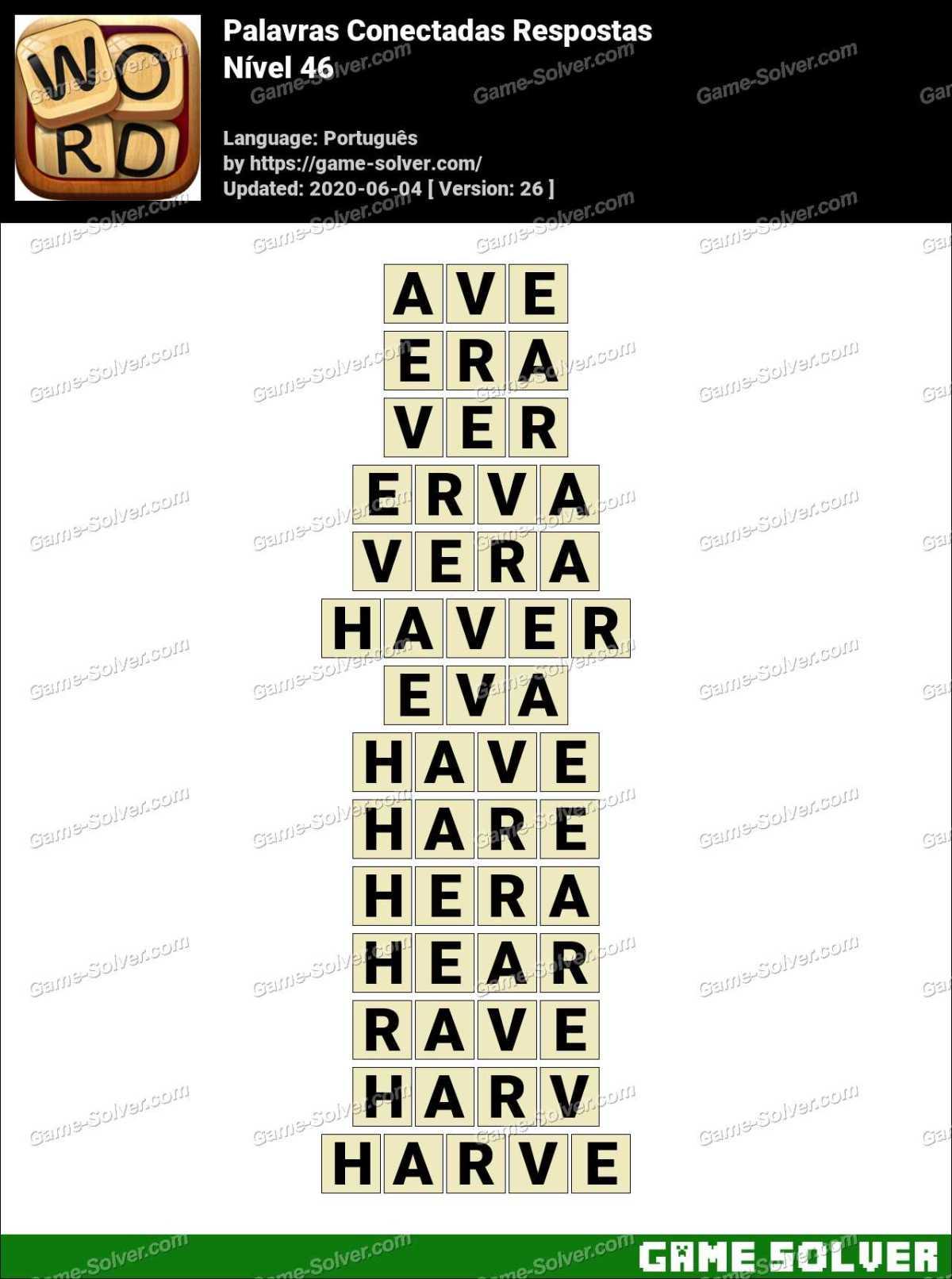 Palavras Conectadas Nivel 46 Respostas