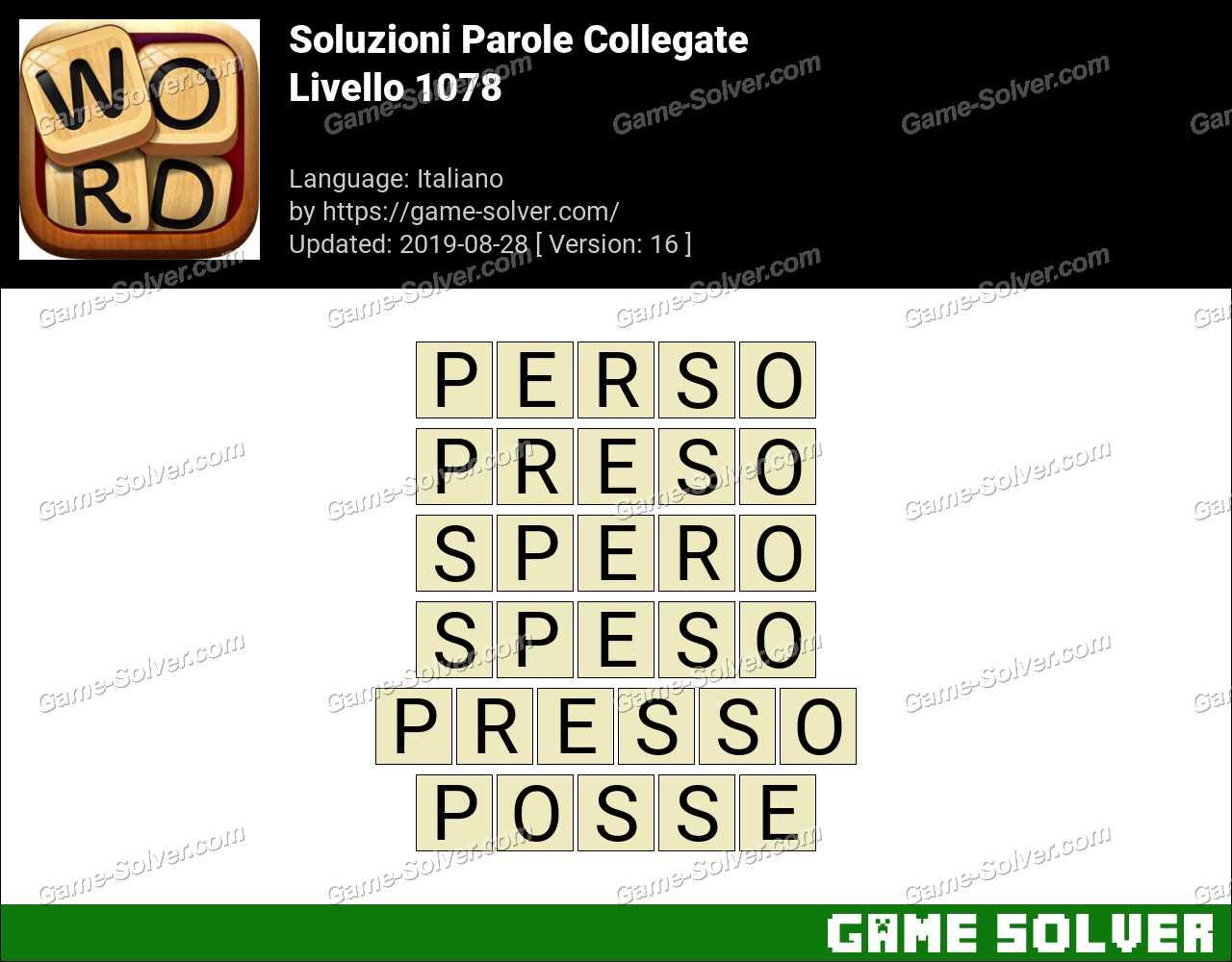 Soluzioni Parole Collegate Livello 1078
