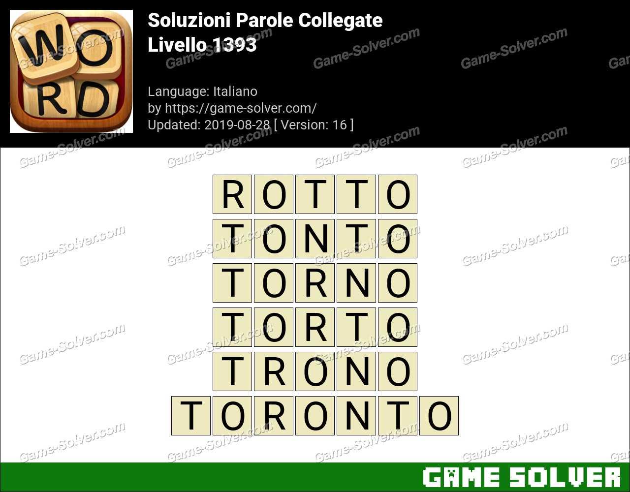 Soluzioni Parole Collegate Livello 1393