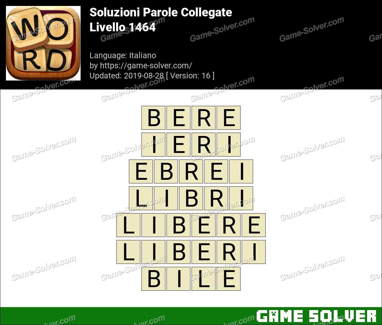 Soluzioni Parole Collegate Livello 1464