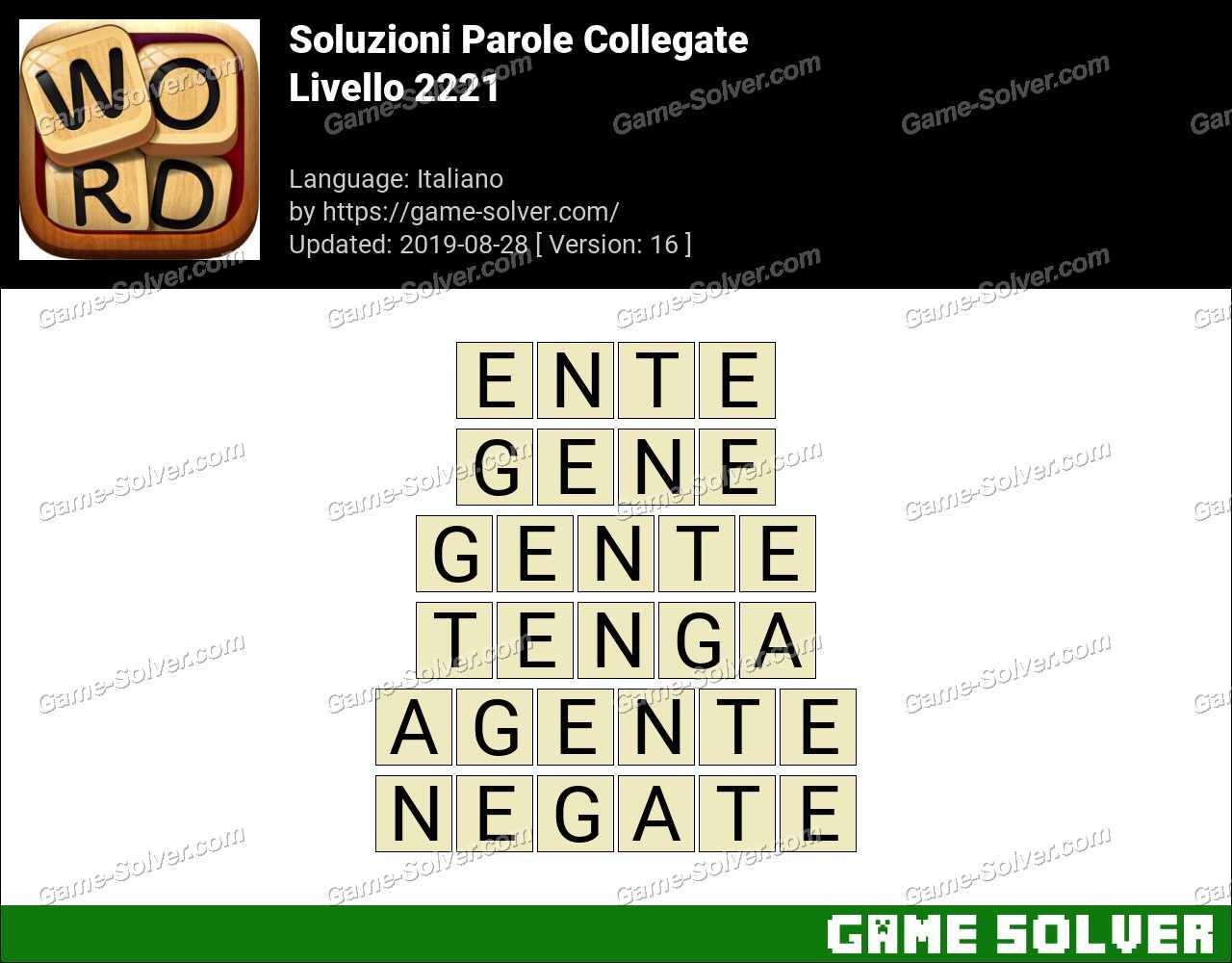 Soluzioni Parole Collegate Livello 2221