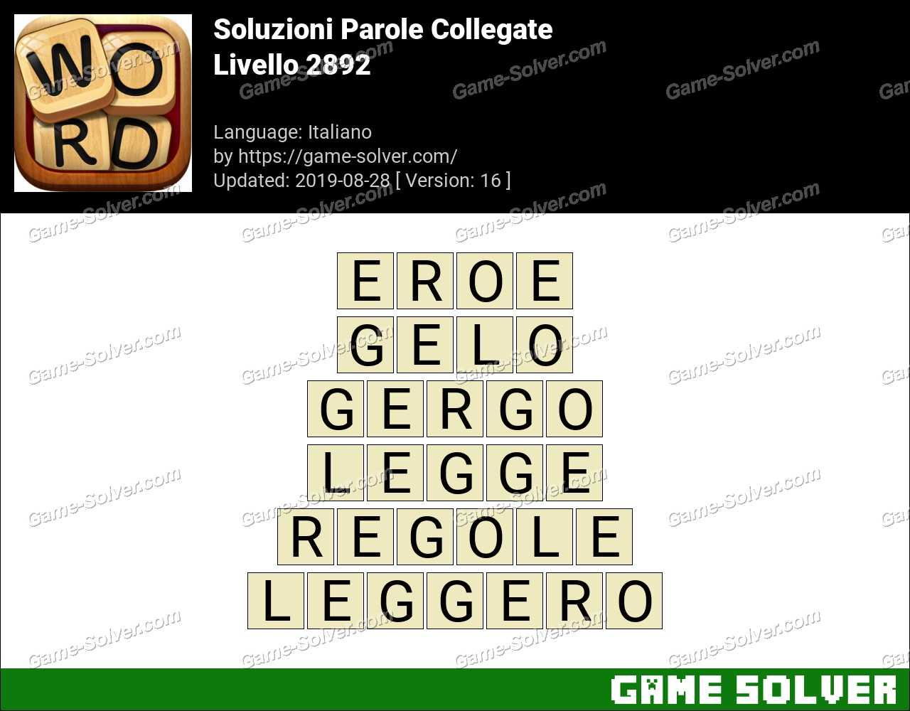 Soluzioni Parole Collegate Livello 2892