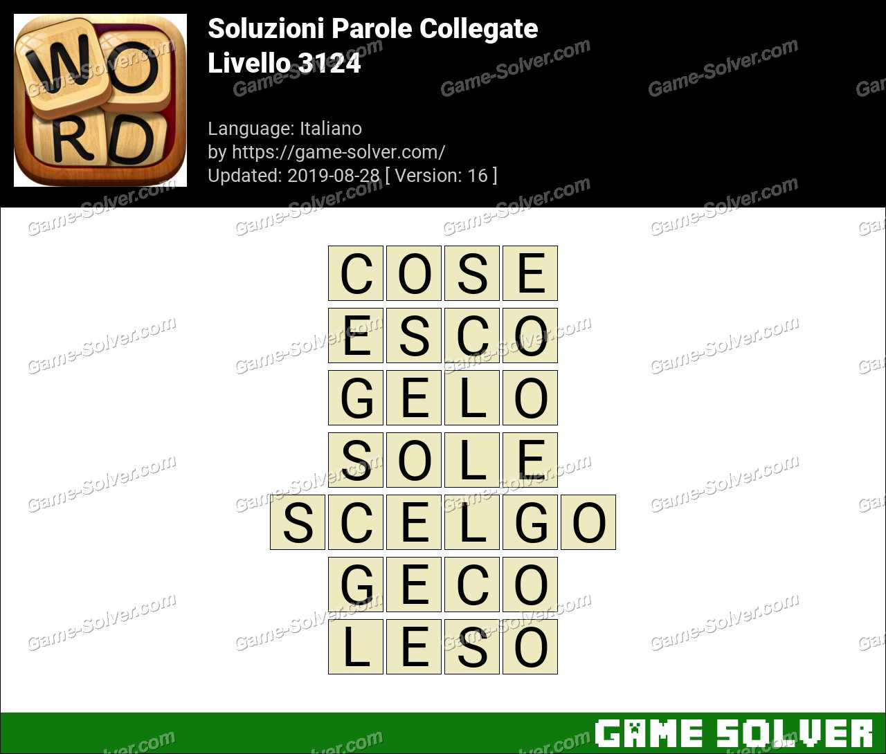 Soluzioni Parole Collegate Livello 3124