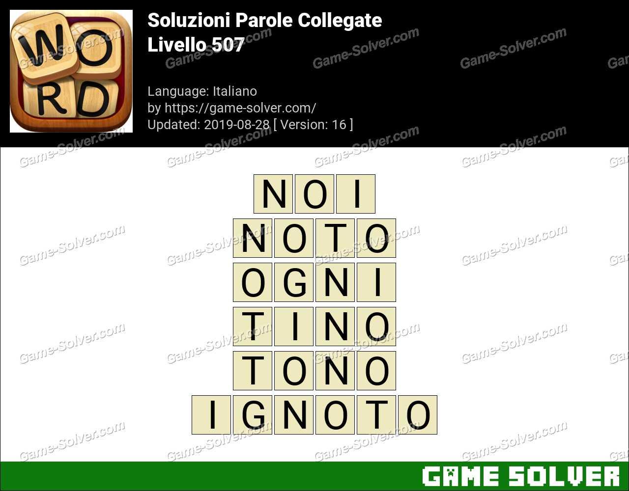 Soluzioni Parole Collegate Livello 507