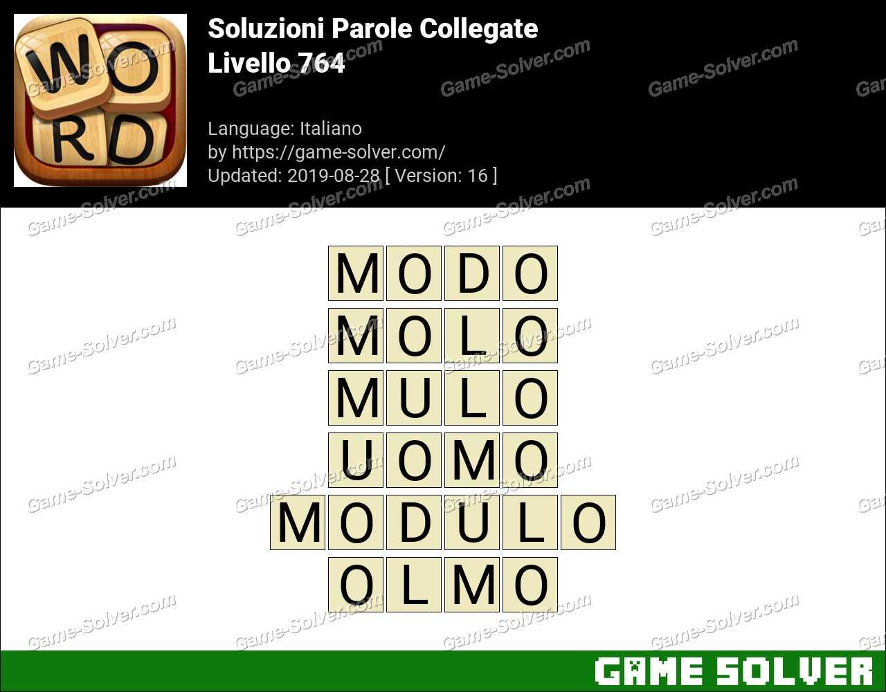 Soluzioni Parole Collegate Livello 764