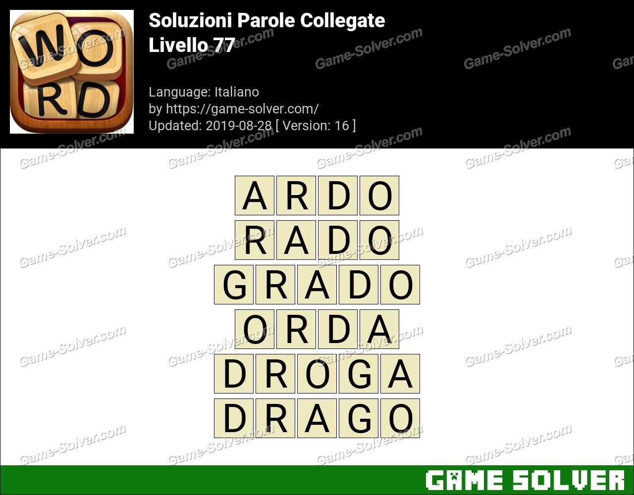 Soluzioni Parole Collegate Livello 77