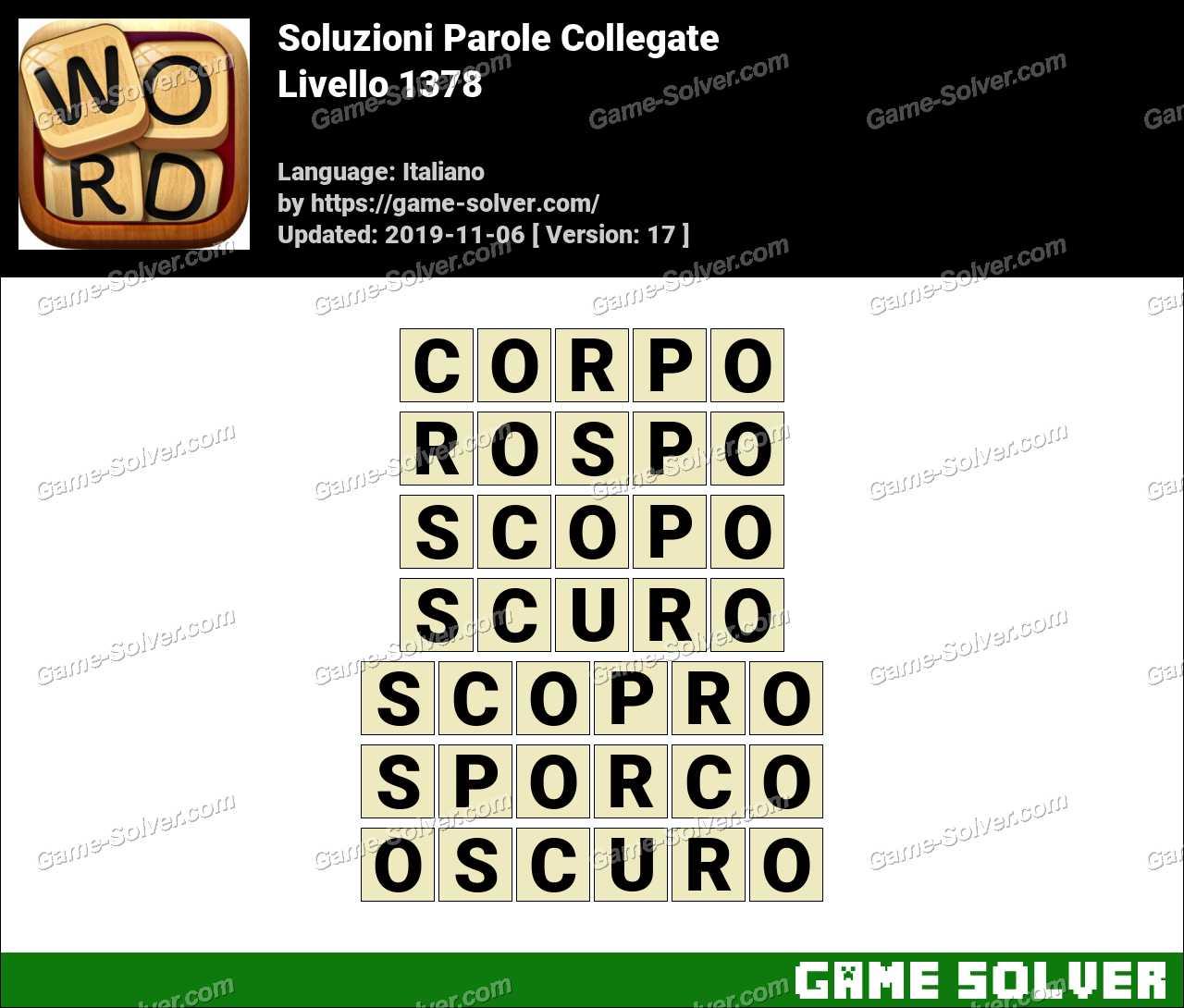 Soluzioni Parole Collegate Livello 1378