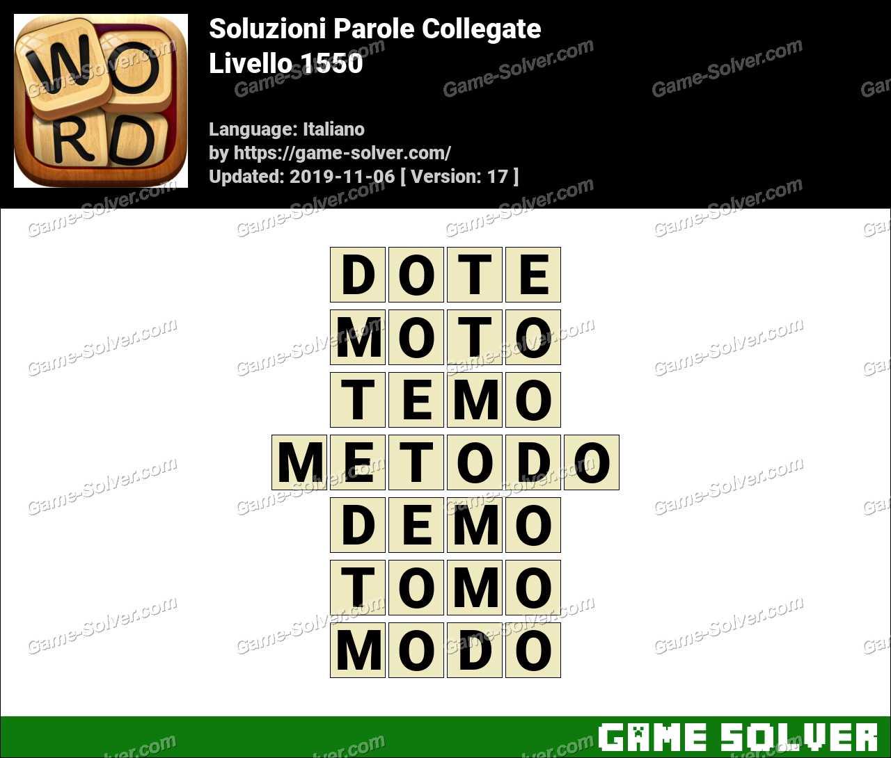 Soluzioni Parole Collegate Livello 1550