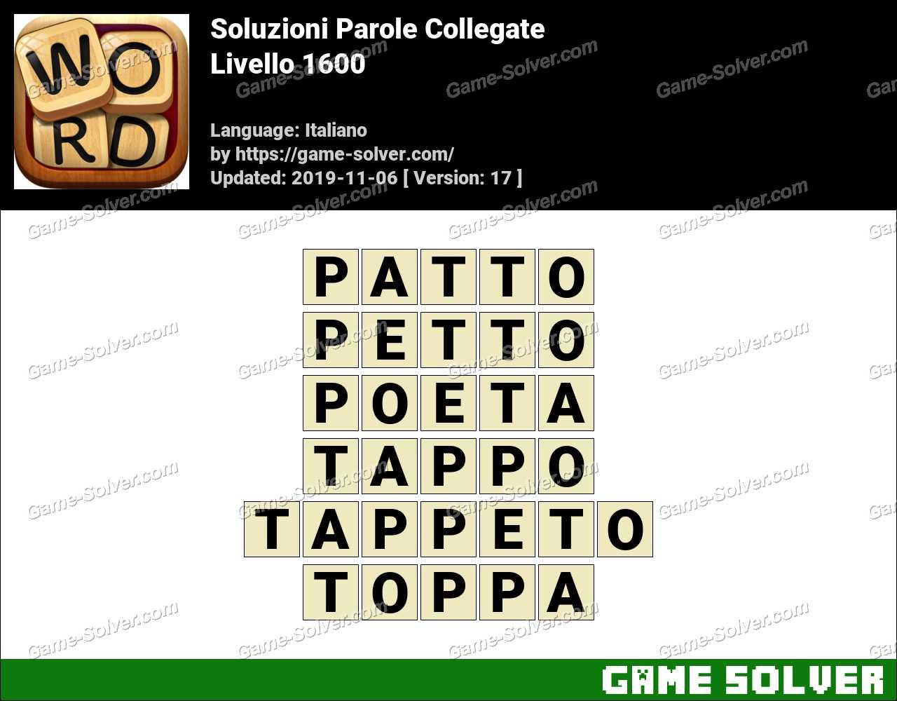 Soluzioni Parole Collegate Livello 1600