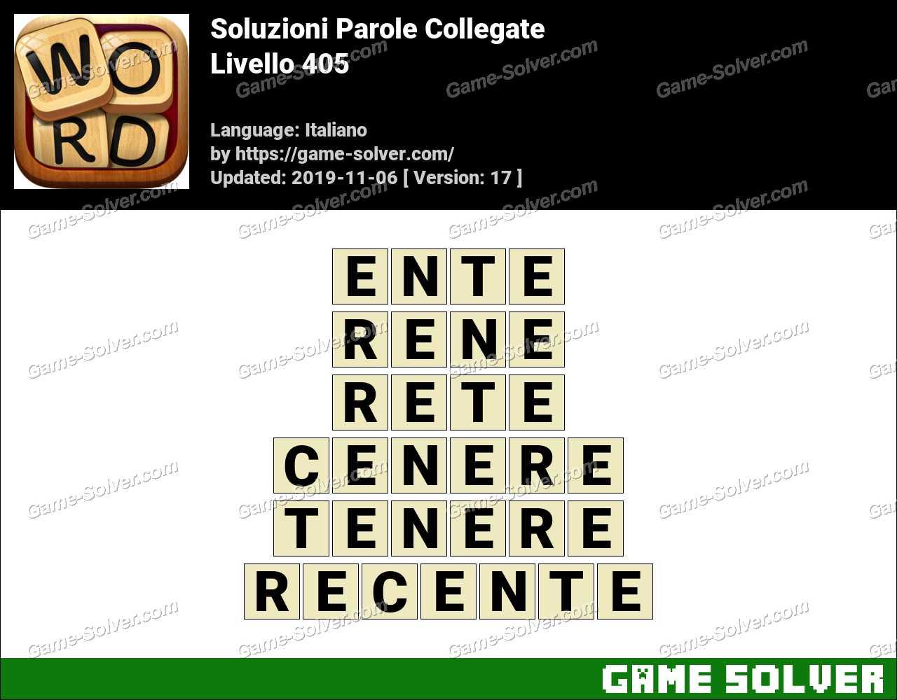 Soluzioni Parole Collegate Livello 405