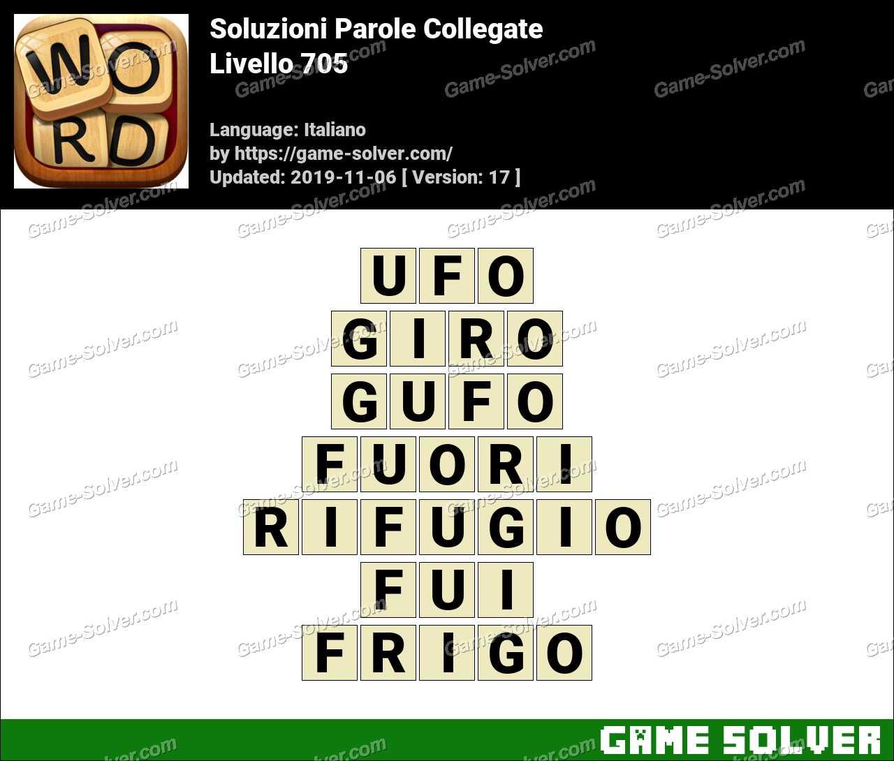 Soluzioni Parole Collegate Livello 705