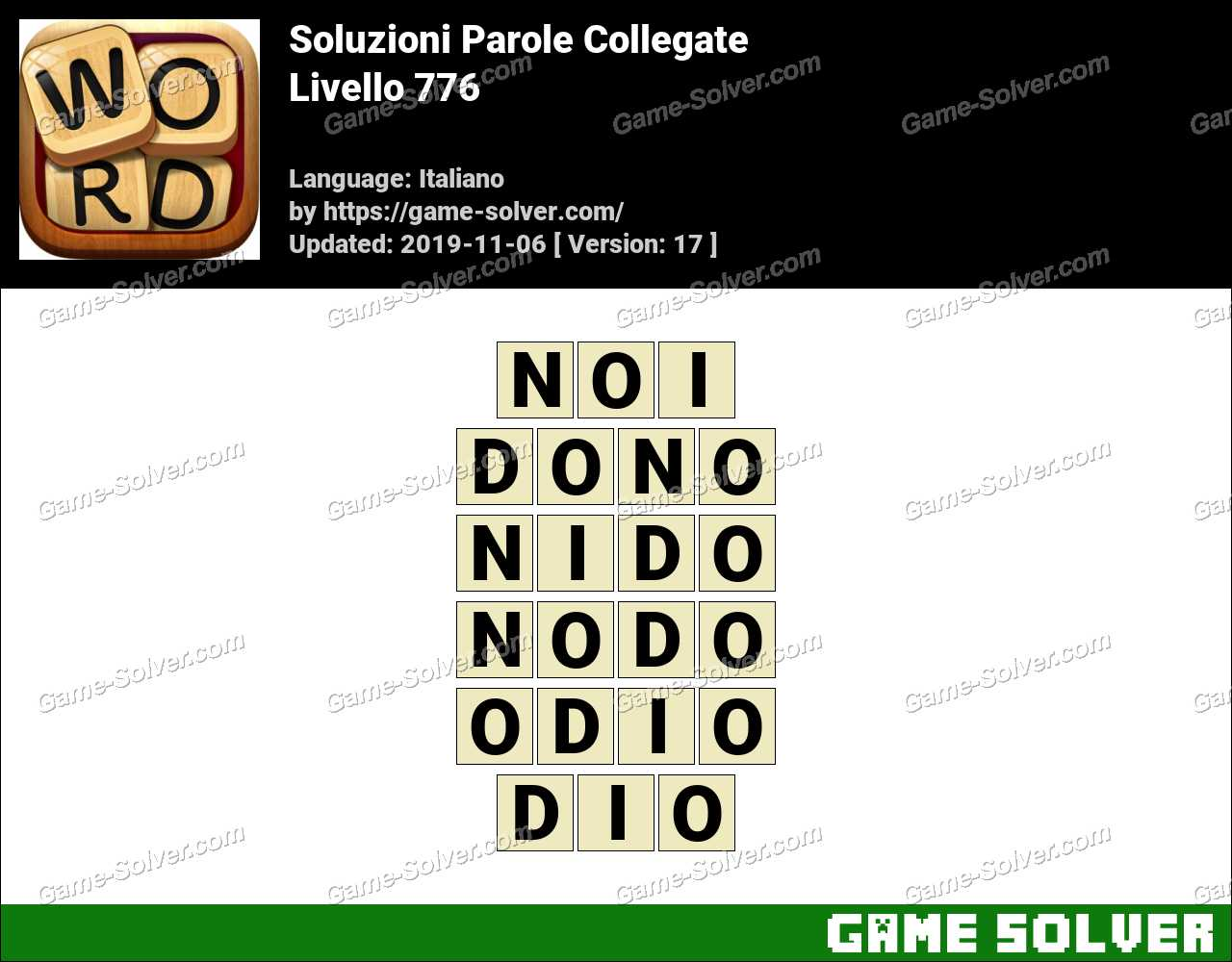 Soluzioni Parole Collegate Livello 776
