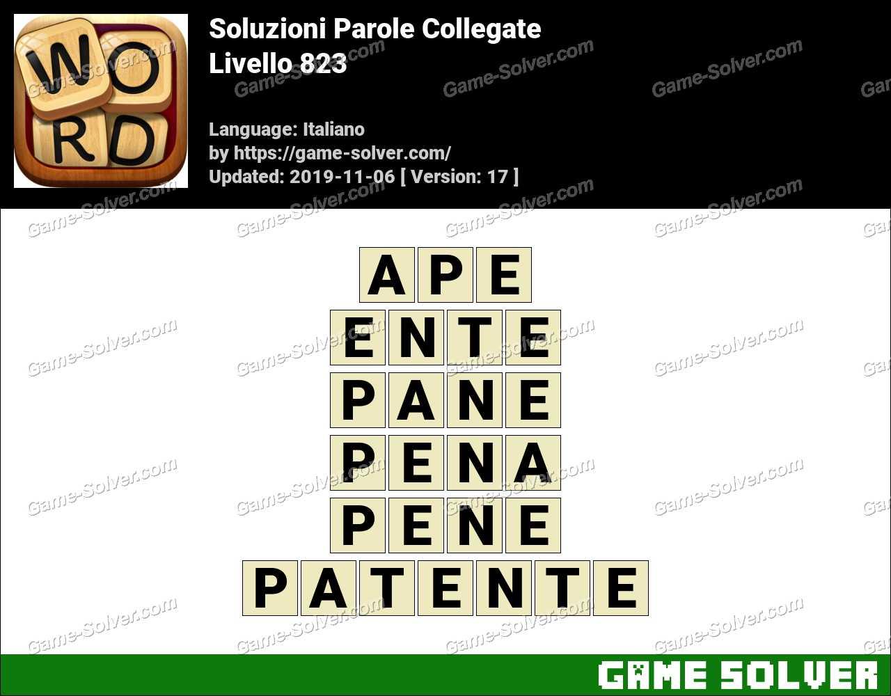 Soluzioni Parole Collegate Livello 823
