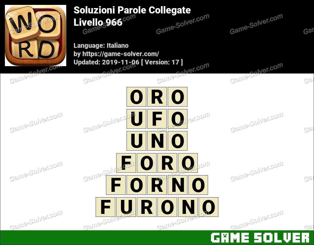 Soluzioni Parole Collegate Livello 966