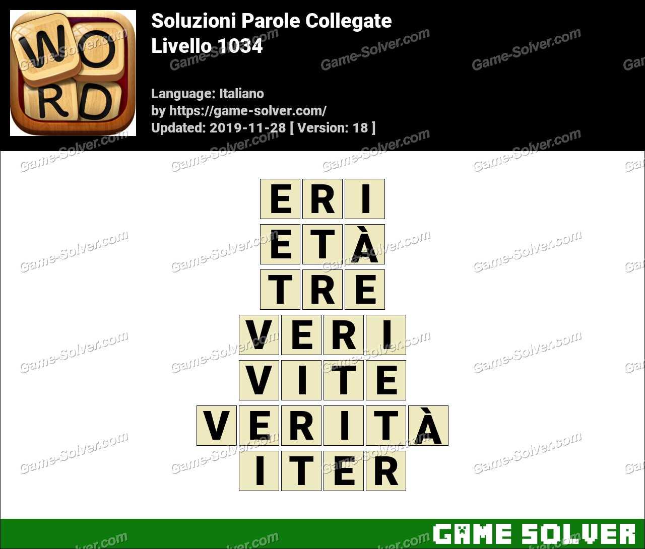 Soluzioni Parole Collegate Livello 1034
