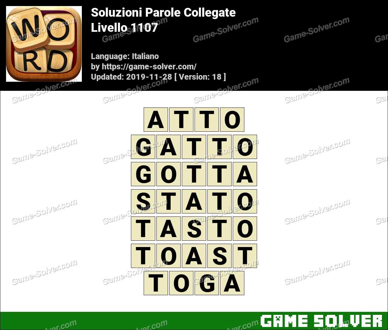 Soluzioni Parole Collegate Livello 1107