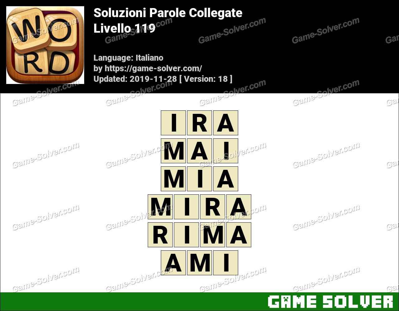 Soluzioni Parole Collegate Livello 119