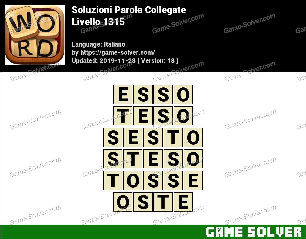 Soluzioni Parole Collegate Livello 1315