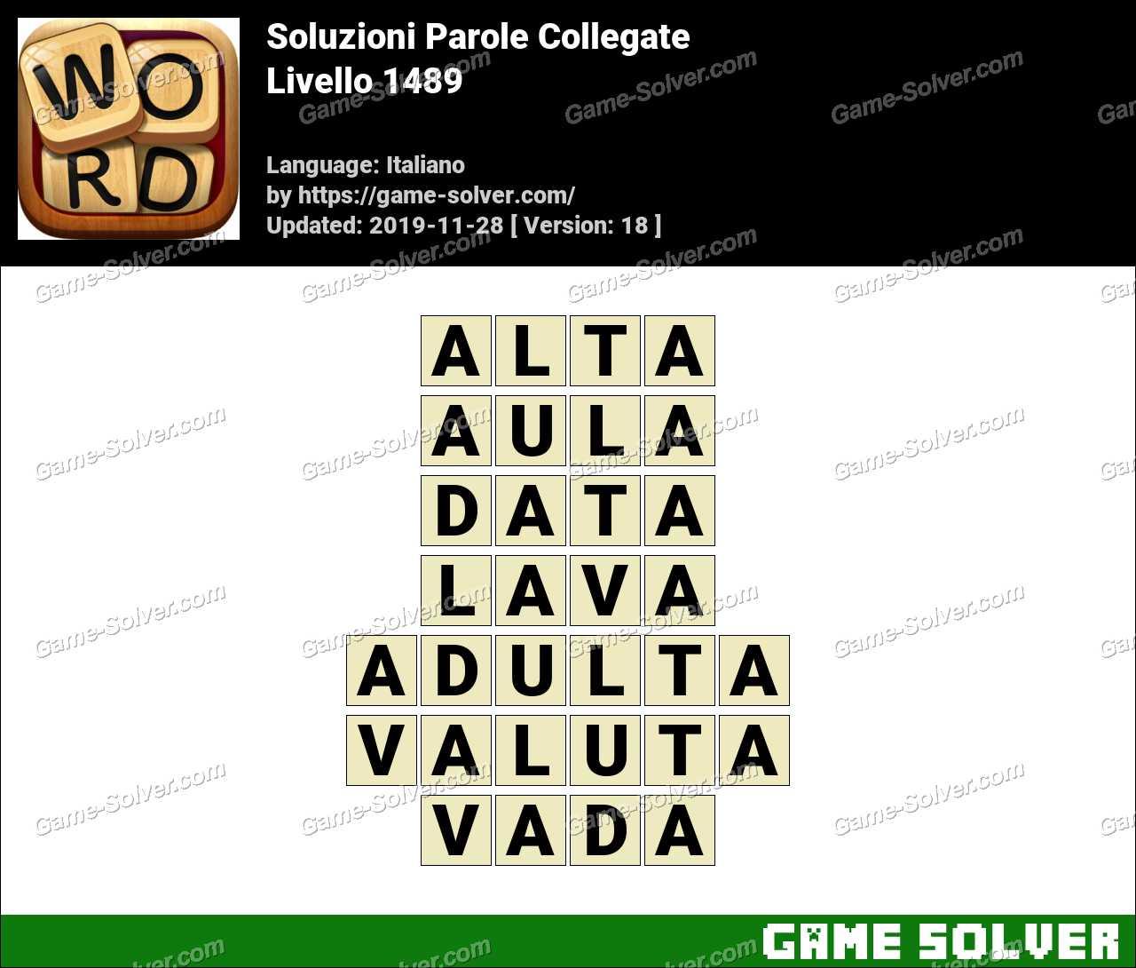 Soluzioni Parole Collegate Livello 1489