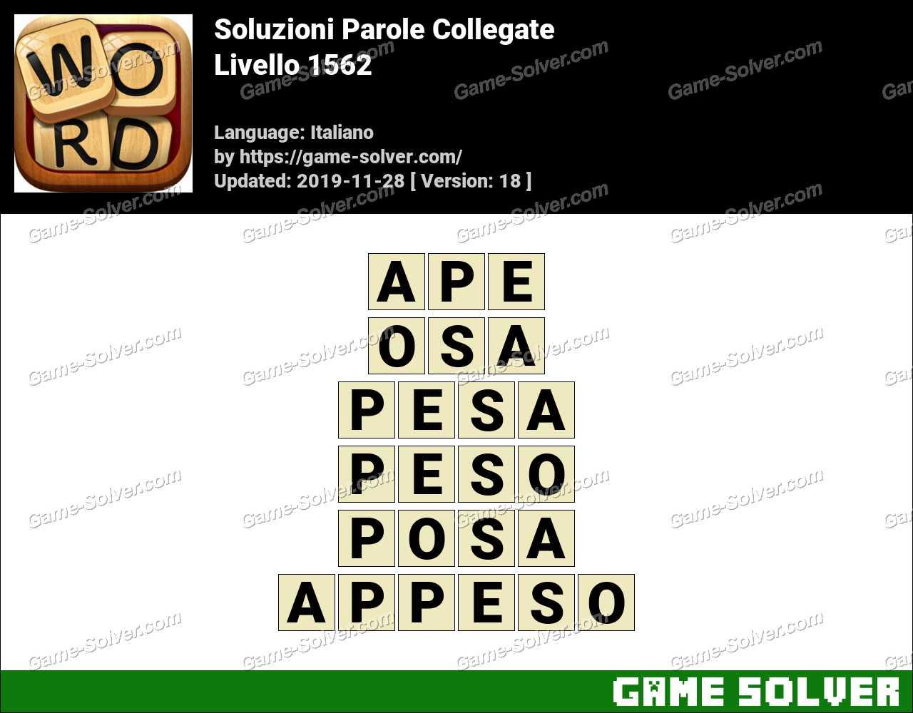 Soluzioni Parole Collegate Livello 1562