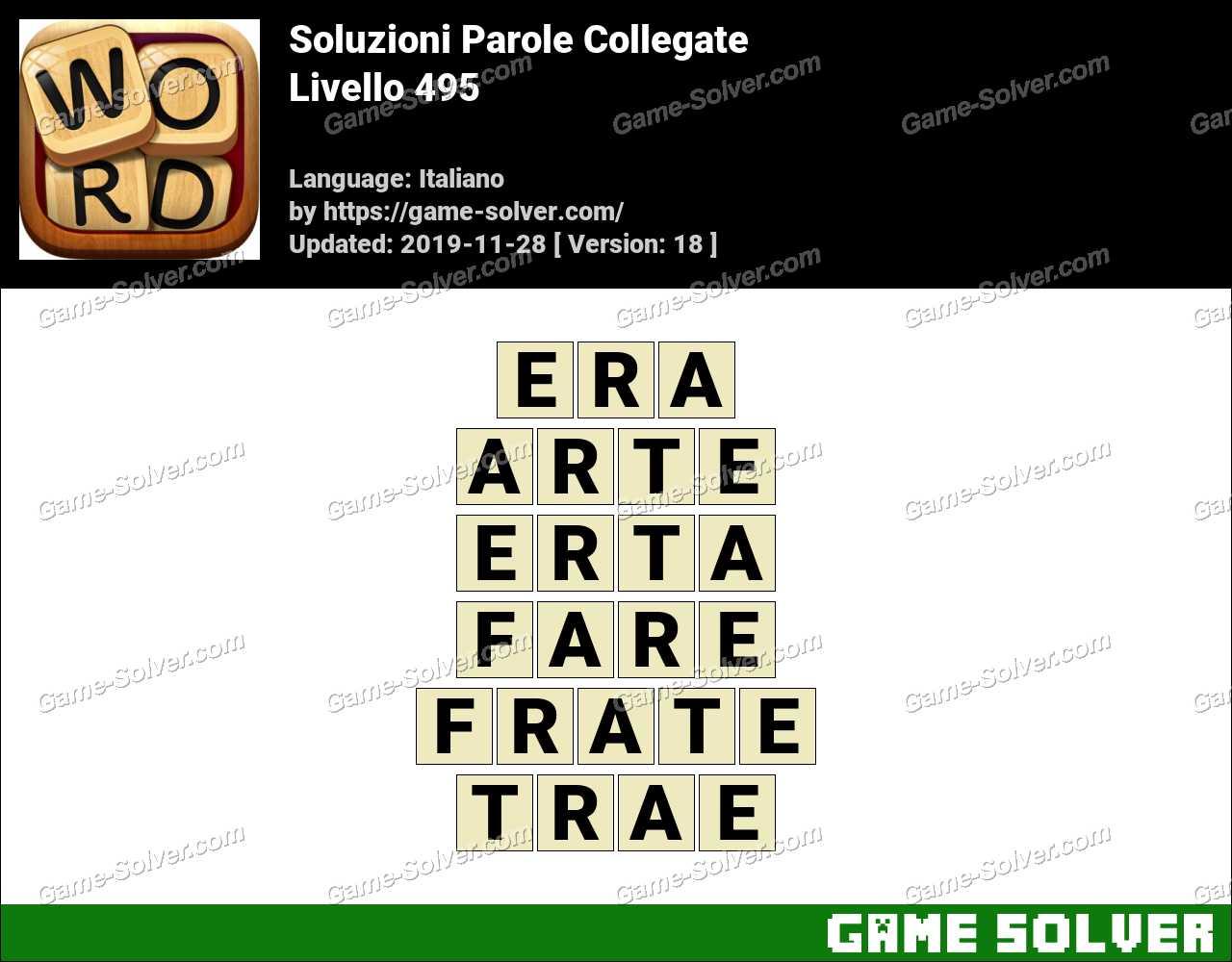 Soluzioni Parole Collegate Livello 495