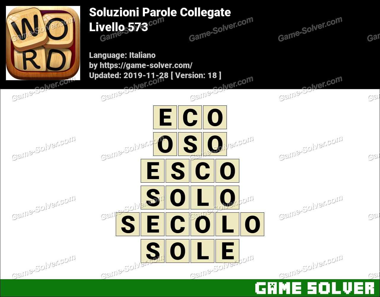 Soluzioni Parole Collegate Livello 573