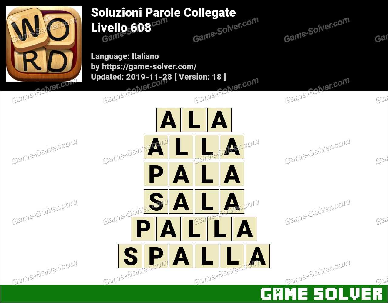Soluzioni Parole Collegate Livello 608