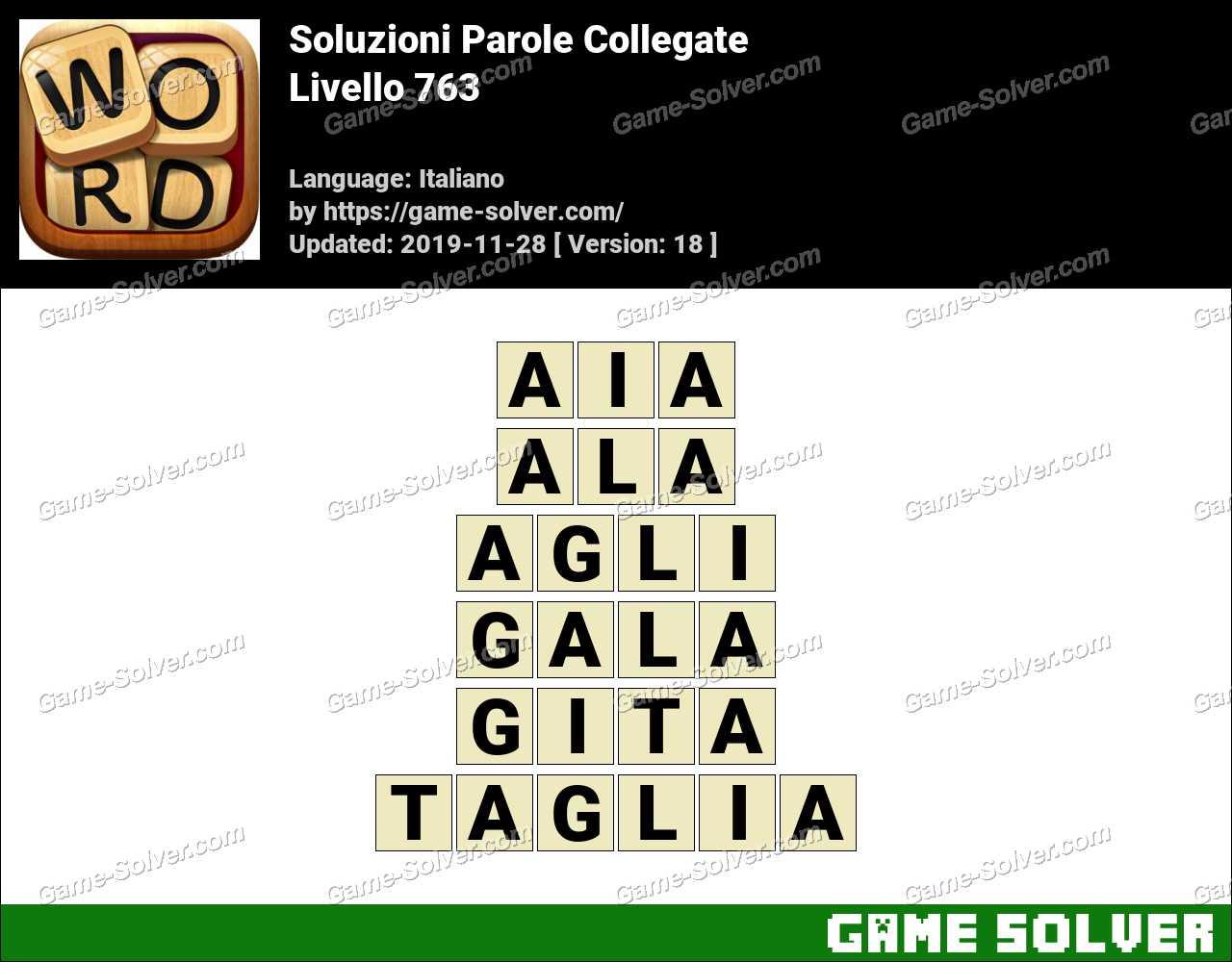 Soluzioni Parole Collegate Livello 763