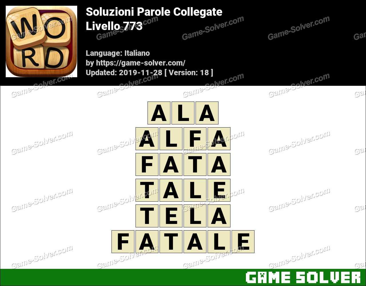 Soluzioni Parole Collegate Livello 773