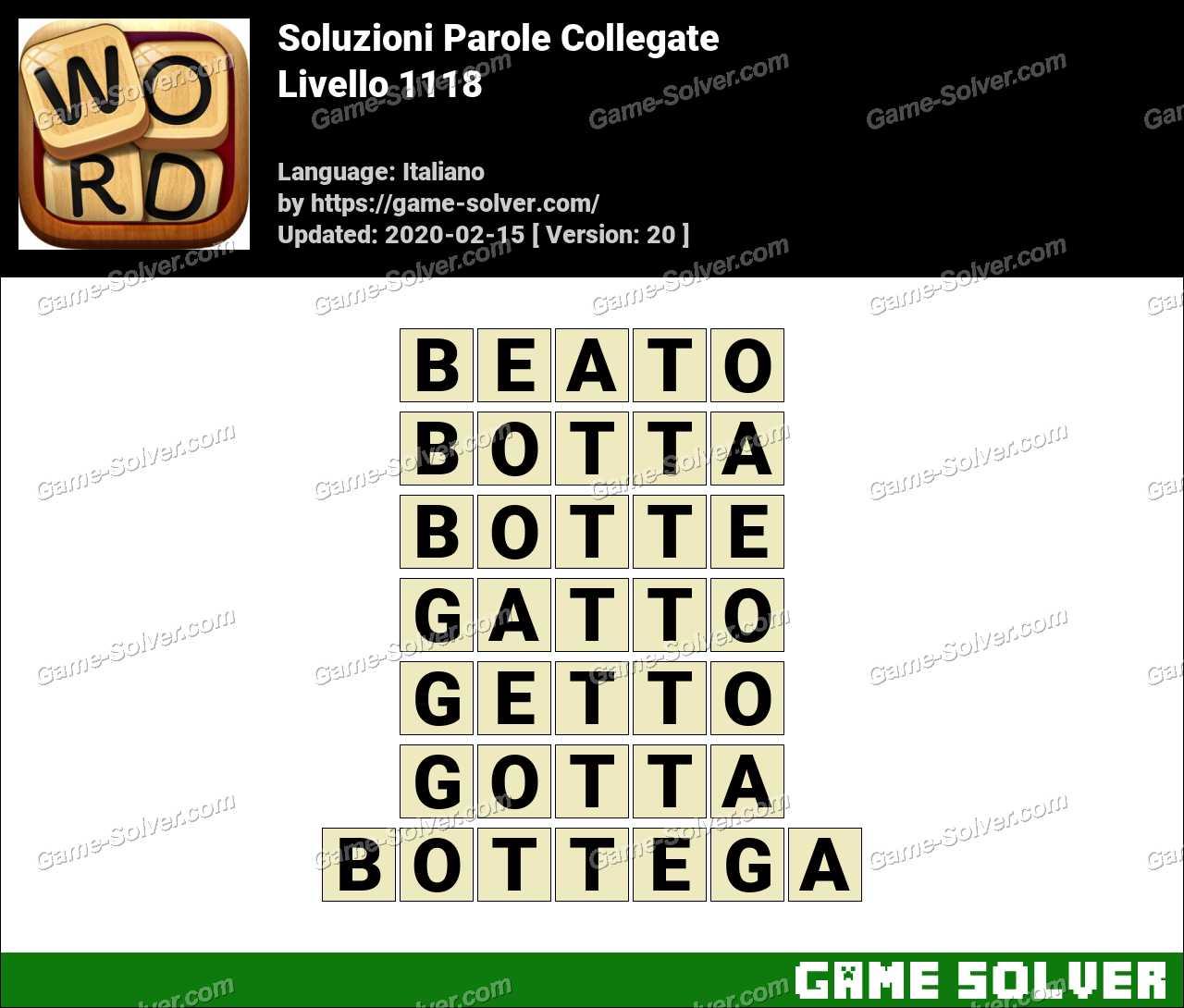 Soluzioni Parole Collegate Livello 1118