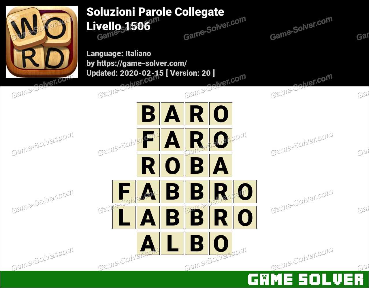 Soluzioni Parole Collegate Livello 1506