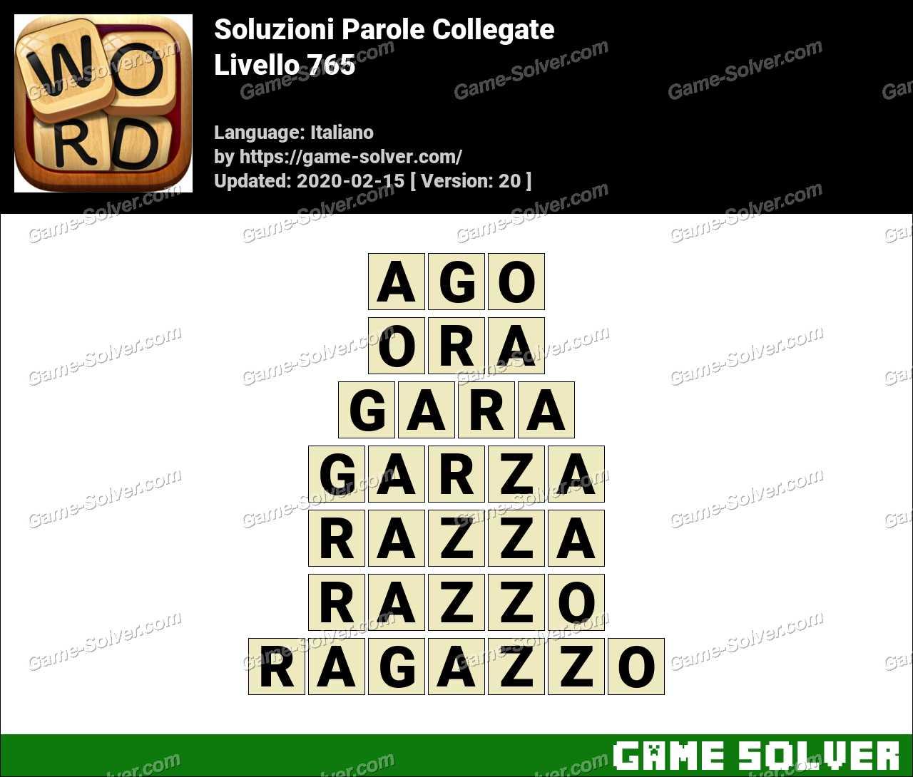 Soluzioni Parole Collegate Livello 765