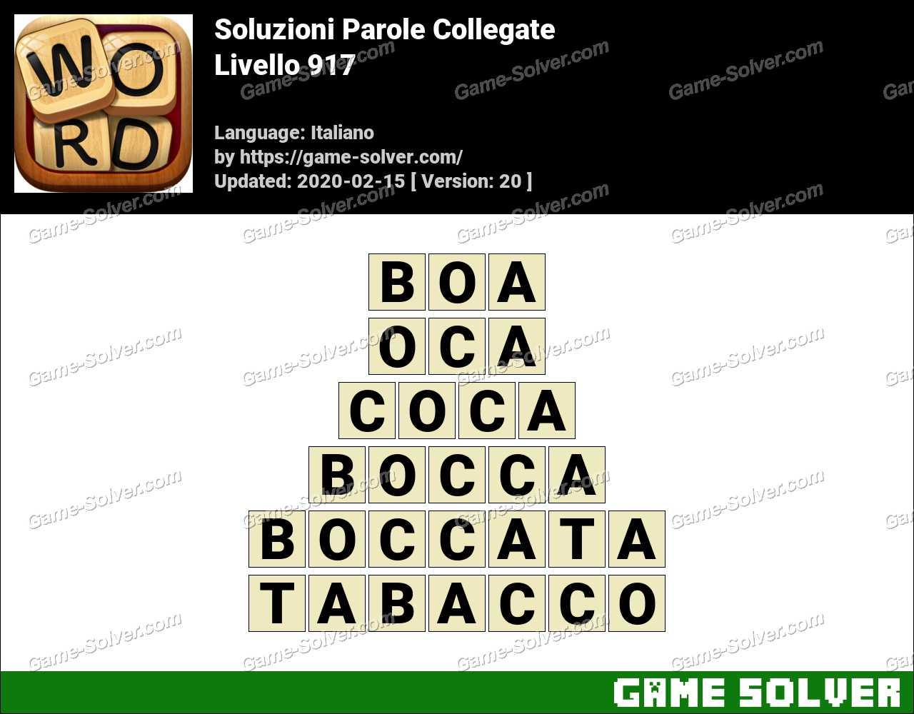 Soluzioni Parole Collegate Livello 917