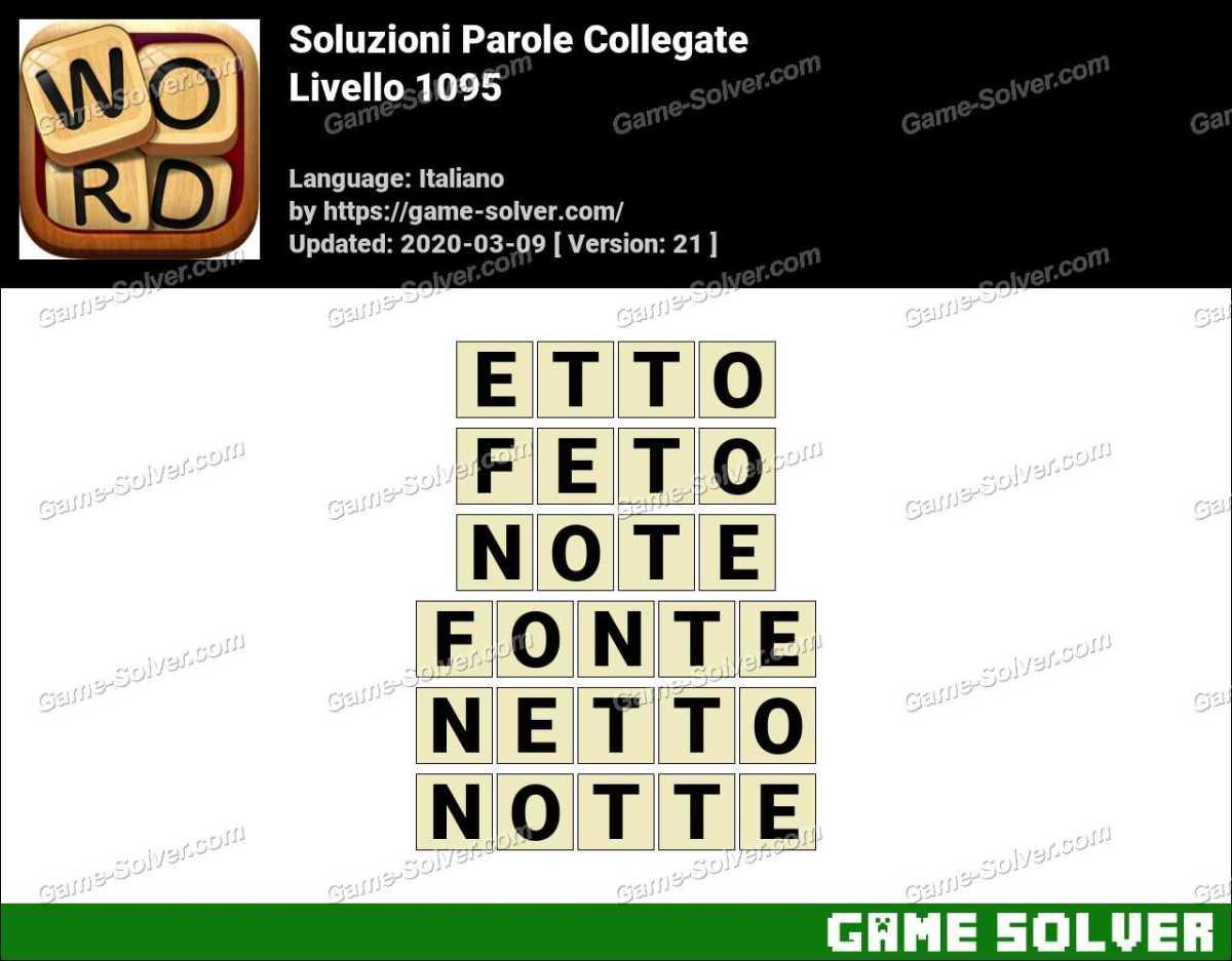 Soluzioni Parole Collegate Livello 1095
