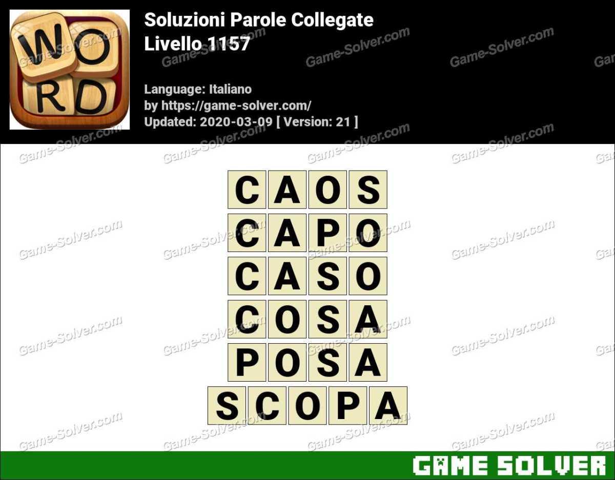 Soluzioni Parole Collegate Livello 1157