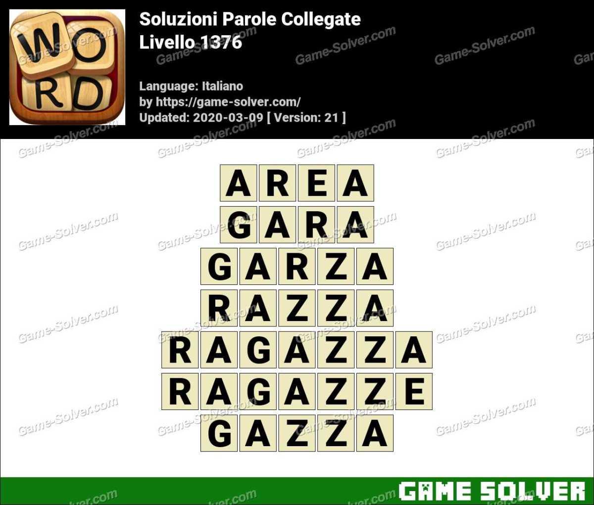 Soluzioni Parole Collegate Livello 1376