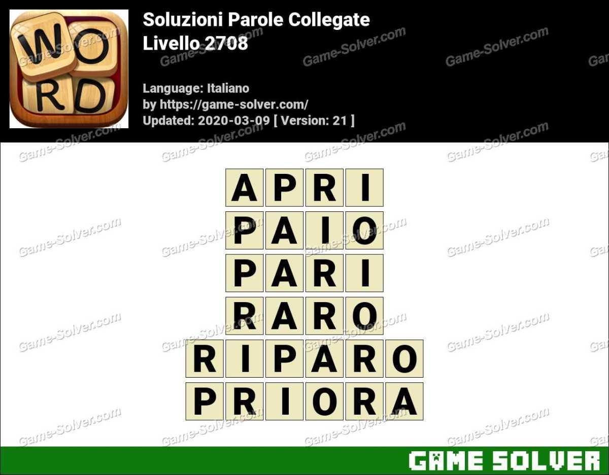 Soluzioni Parole Collegate Livello 2708