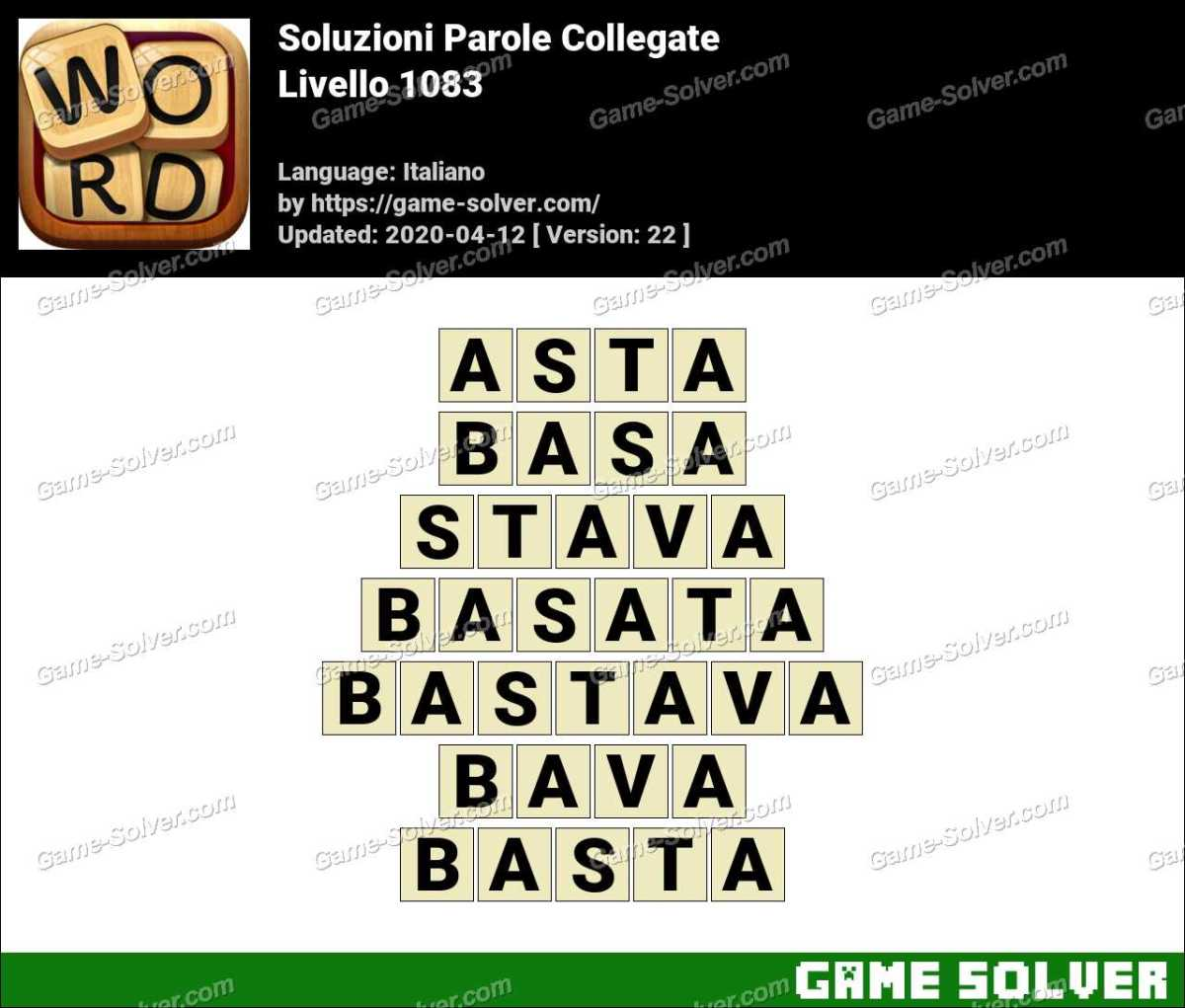 Soluzioni Parole Collegate Livello 1083